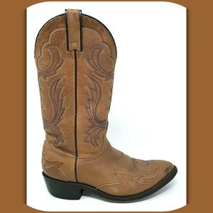 LAREDO Cowboy Western Leather Boots